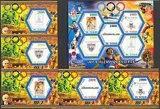 Chad 2015 History of Olympics Games Emblems 1920 - 1936 MNH** Privat !