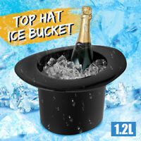 1.2L Ice Bucket Wine Bottle Drinking Cooler Acrylic Top Hat Cap Shaped Champagne