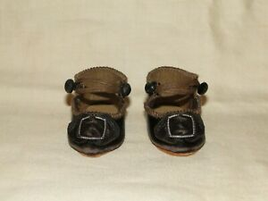 """leather shoes BRU style for antique doll size 2"""" 1/4 (58 mm)"""