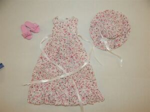 Cute Dress, Hat and Shoes for Miki, Layla, Kaye Wiggs Dolls 18 inch
