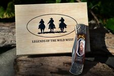 Doc Holliday Commemorative Collectible Folding Pocket Knife - Wild West