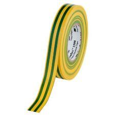 10x 3M Temflex 1500 PVC -elektroisolierband, Vert/Jaune B : 19 MM X L: 25 M