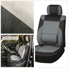 New design universal breathable advanced PU leather 3MM sponge front seat cover