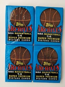 1992-93 TOPPS ARCHIVES BASKETBALL 4 x SEALED PACKS. Great Investment! LOT 2 🔥