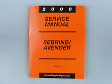 Service Manuals, '00 Sebring/Avenger, Eng/Chas/Body/Elec, Vol. 1&2, 81-270-0018