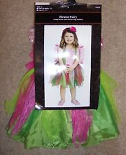 New Flower Fairy Halloween Costume Pink Green Tulle Dress Wings 24 Months 2T