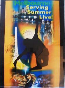 1997 AUSTRALIAN OPEN POSTER SIGNED BY WINNER PETE SAMPRAS & FINALIST CARLOS MOYA