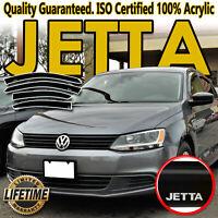 For VW Jetta 11-18 Window Vent Visors Side Sun Deflectors Rain Shade with Logo