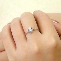 Fashion Plated silver Four Claw Zircon Opening Adjustable Couple Ring Gift