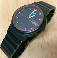 Vintage Pulsar Men Lady Black Analog Digital Quartz Timer Watch Hour~New Battery