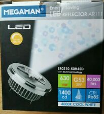 Megaman LED 10W G53 Dimming 20V AR111 4000K 45Deg Lamp