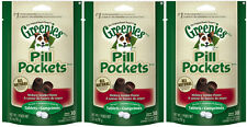 GREENIES HICKORY SMOKE DOG PILL POCKETS FOR TABLETS 3 PACK (3 x 3.2oz)