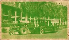 Postcard Hawaii Pearl Harbor Navy Yard Leaping Tuna Elephant Train 1944 WWII