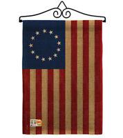 Heritage Betsy Ross Decorative Metal Wall Hanger Garden Flag Set GS192174-P3-02