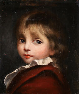 17th CENTURY FRENCH OLD MASTER OIL ON CANVAS - PORTRAIT OF A YOUNG BOY