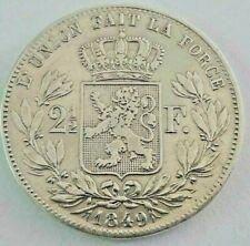 ==>> 2 1/2 Francs 1848 & 1849 KM#11 LA#BFM 122 123 Belgïe <<==