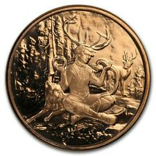 1 oz Copper Round - Celtic Lore: Cernunnos