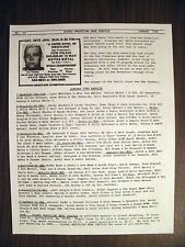 GLOBAL WRESTLING NEWS SERVICE#52-1/80-100'S RESULTS-NEWS ADS! NOSTALGIA! 4 PAGES