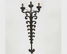 Vintage French Wrought Iron Three Light Sconce