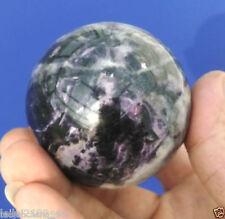 new  AAA 100% 64mm + Stand Glow Dark Stone crystal Fluorite sphere ball