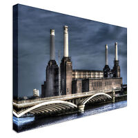 Battersea power station dusk Canvas Wall Art Picture Print