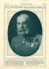 1917 Empereur François Joseph MILITAIRE TRACTION-moteurs progrès illustration