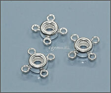 Sterling Silver 4-Ring Chandelier Connector 5PC #51079