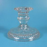 Indiana Sandwich Glass Single Light Candlestick Candle Holder Clear