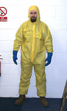 Yellow Hazmat Chemical Suit Costume  Fancy Dress Heisenberg Breaking Halloween