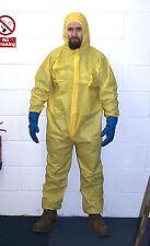 Yellow Hazmat Chemical Suit Costume  Fancy Dress Heisenberg Breaking Halloween