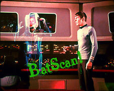 STAR TREK 1968 Original Film Slide AND Color 5x7 Photo #77  Spock & Ghost Kirk!