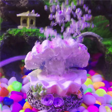 Aquarium Pearl Shell Oxygen Pump Fish Tank Toy Decor Ornament Free Shipping