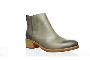 Kork-Ease Womens Mindo Grey Full Grain Leather Ankle Boots Size 7.5 (1547920)