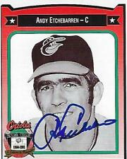 ANDY ETCHEBARREN SIGNED 1991 CROWN #124  -  BALTIMORE ORIOLES