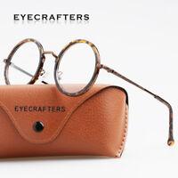 Retro Vintage Round Eyeglass Frames Full Rim Glasses Retro Eyewear Clear Lens