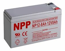 NPP   NP12-8Ah Scooter 12V 8Ah  Battery Replaces Enduring 6-FM-8 terminal F1