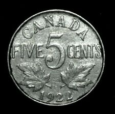 Canada 1922 5 Cents Coin King George V