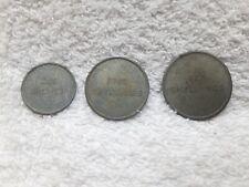 3 alte Jetons TOW - FIVE - TEN SCHILLINGS Jeton Casino Medaille