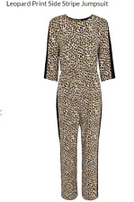 George Leopard Print Side Stripe Jumpsuit size UK14/EUR42