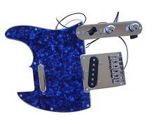 Loaded blue Pearloid Tele Pickguard Bridge Pickup Control For Guitar Kit