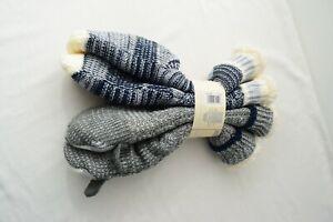 Jane & and Bleecker Women's Size 4 - 10 Slipper Socks Dog 2 Pairs Blue Gray