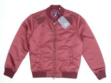 Levis Made & Crafted Mens Souvenir Jacket XS 0 Burgundy Floral Embroidery Bomber