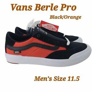 Vans Elijah Berle Pro Black Orange Men's Size 11.5 Skate Sneaker Shoes NEW