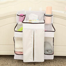 Large Baby Nursery Crib Bed Diaper Nappy Hanging Holder Storage Bag Organizer