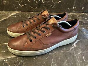 Ecco Danish Design Brown Leather Sneakers Men 46 Us 12 Comfort  Casual Lace Up