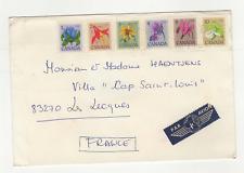 CANADA 6 timbres  sur lettre ancienne /L770
