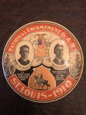 "Large 4"" 1910 St. Louis National Encampment GAR Button Governor & Mayor"