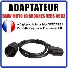 Prise OBD2 compatible BMW - 10 broches - Spécial Moto - Compatible GS-911
