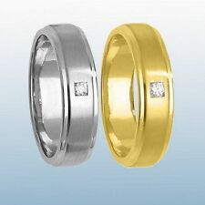 Yellow Diamond Band Fine Rings