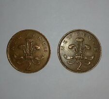 More details for rare 2× 2p coin - new pence. 1971 & 1981.
